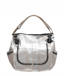 Sophie silver-tone leather grab bag