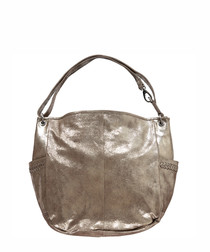 Sophie gold-tone leather grab bag