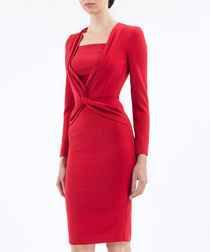 Red formal wiggle dress