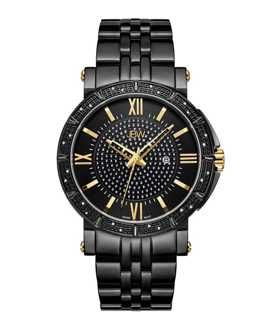 Vault black ion-plated & diamond watch Sale - jbw