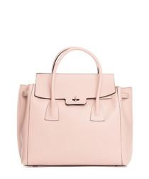 Rose leather grab bag