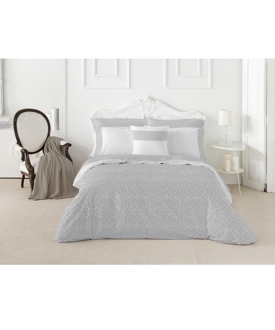 Nordicos superking grey cotton duvet set Sale - pure elegance