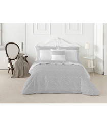 Nordicos double grey cotton duvet set