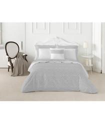 Nordicos grey cotton single duvet set