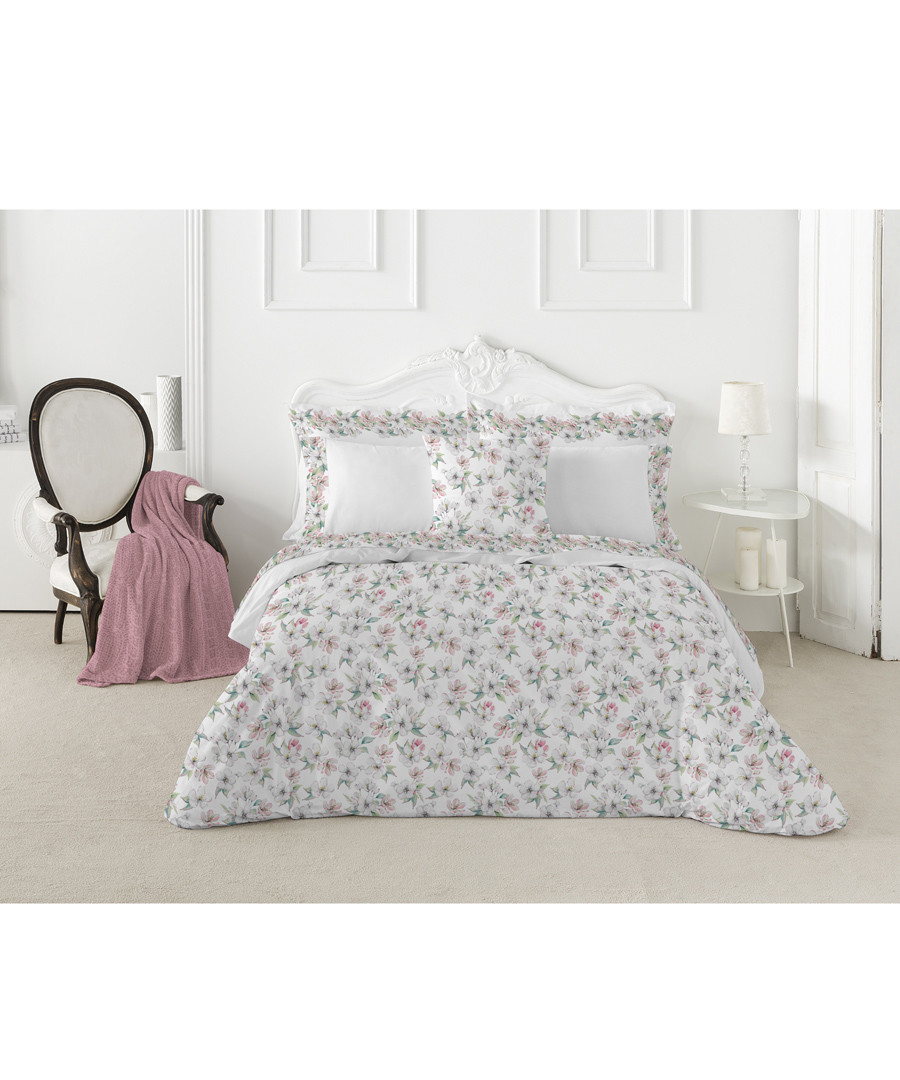 Spring superking pink cotton duvet set Sale - pure elegance