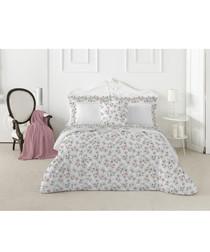 Spring pink cotton double duvet set