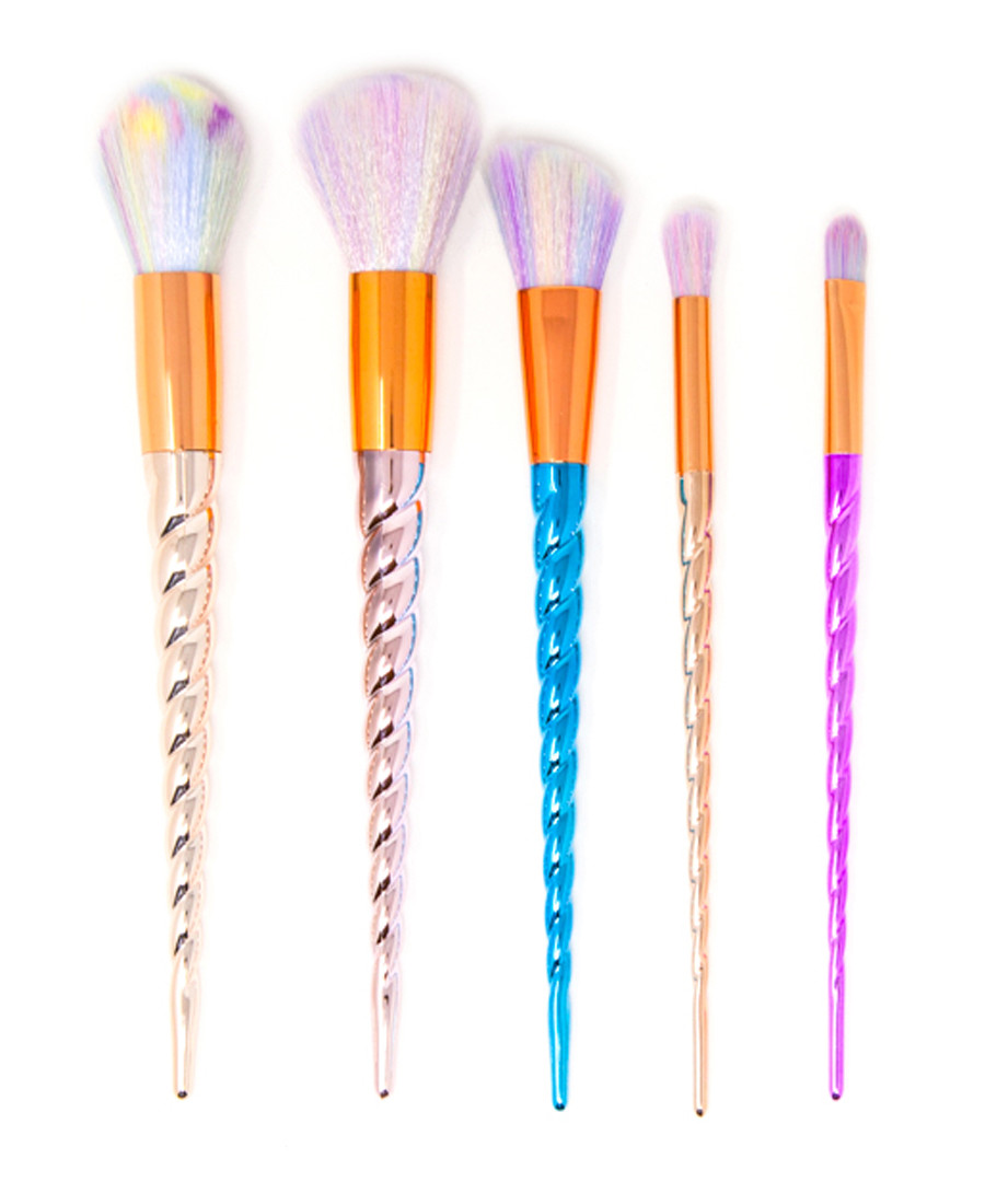 5pc Unicorn make-up brush set Sale - zoe ayla