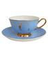 Alphabet Spotty blue teacup & saucer Sale - bombay duck Sale