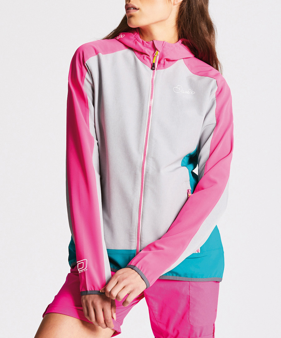 Pink & ash zip-up hooded jacket Sale - dare2b
