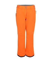Women's orange salopette ski trousers