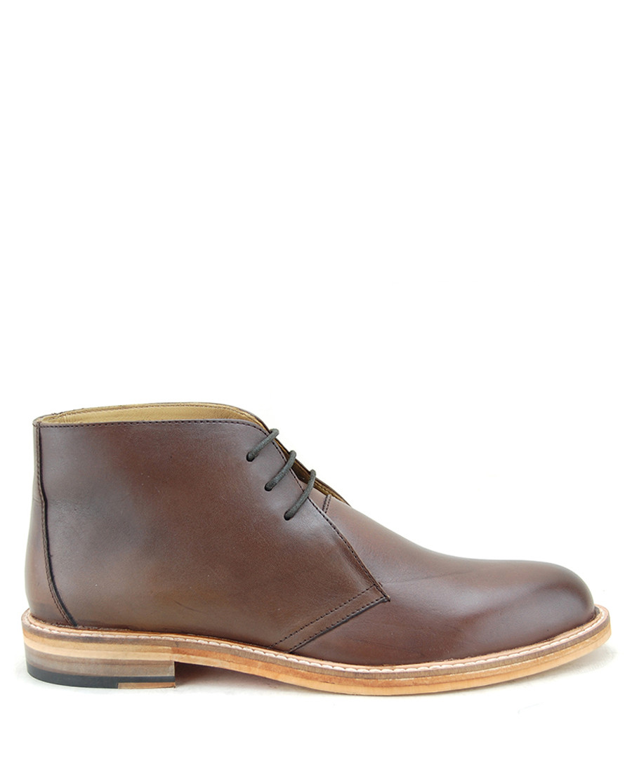 Saulo dark brown leather ankle boots Sale - paolo vandini