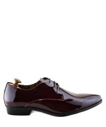 Sai dark red patent leather Derby shoes