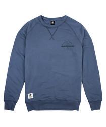 Durable Goods blue cotton blend jumper
