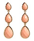 Peach three tier marbled earrings Sale - amrita singh Sale