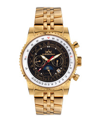 Air Fighter gold-tone steel watch