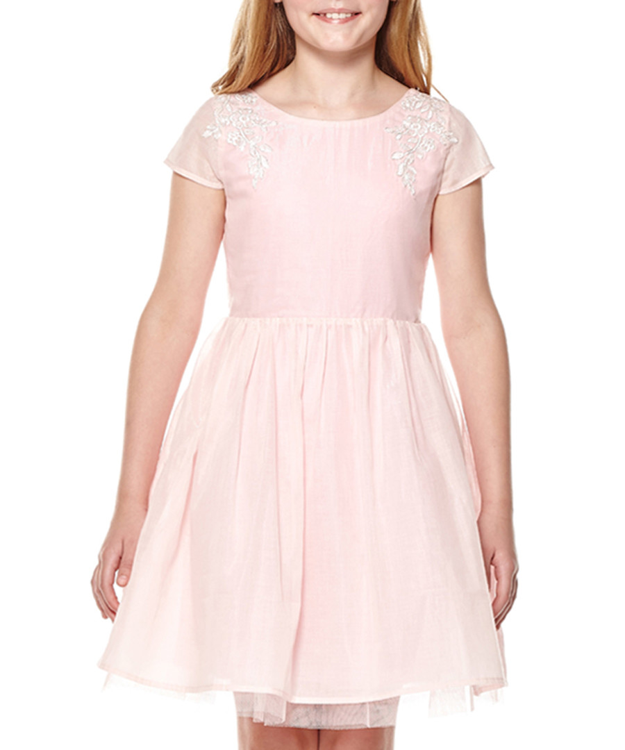 Girl's Soft pink flared skirt prom dress Sale - yumi girls