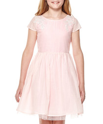 Girl's Soft pink flared skirt prom dress