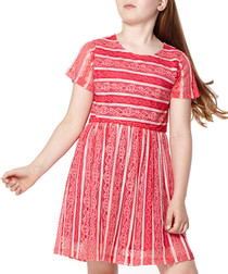 Girl's Raspberry short sleeve dress