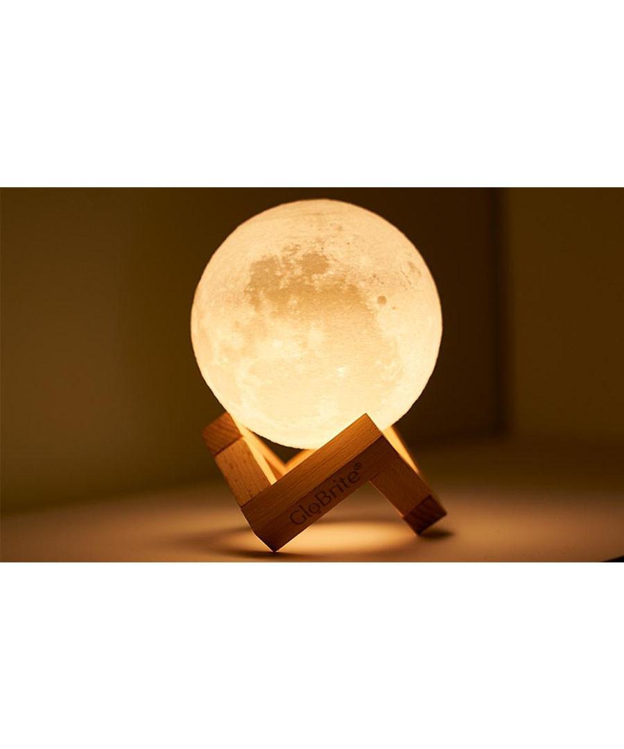 3D moon light & wood stand set Sale - Moon light