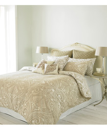 Chatsworth cream cotton single duvet set