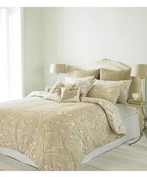 Chatsworth cream cotton double duvet set