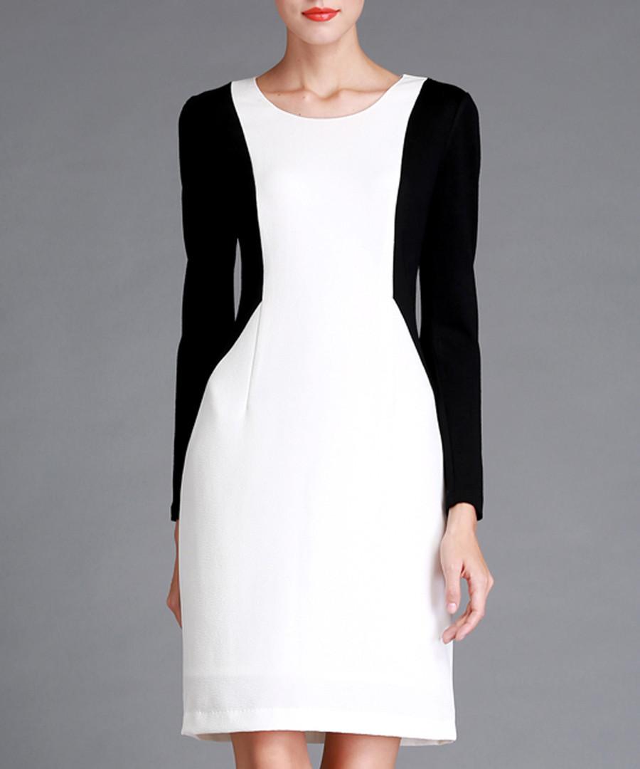 Black & white knee-length dress Sale - Vogue.Va