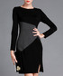 Black & grey slit detail dress Sale - Vogue.Va Sale