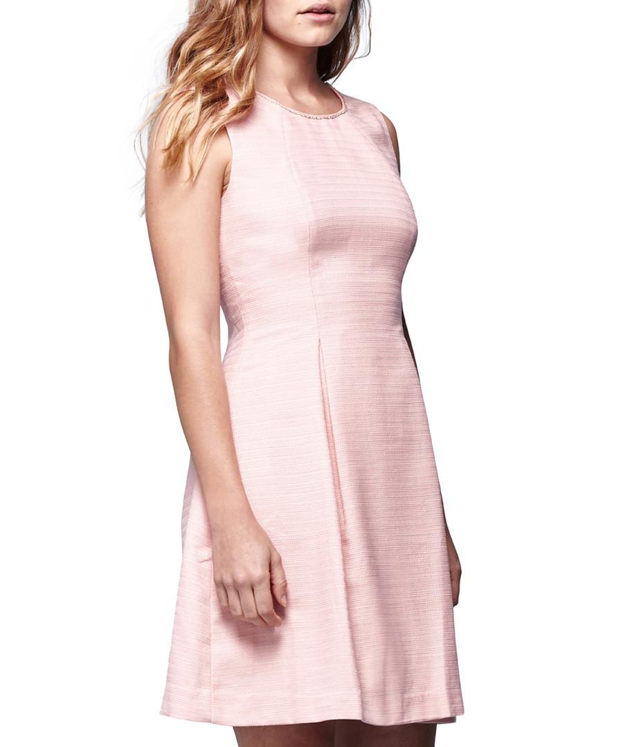 Blush pink sleeveless skater dress Sale - yumi