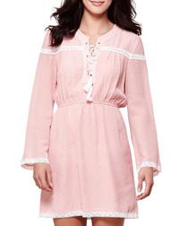 Light pink & white tassel day dress