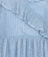 Blue ruffle detail knee-length dress Sale - yumi Sale