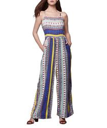 Multi-coloured printed jumpsuit