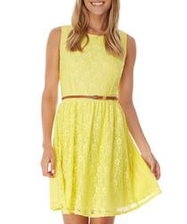 Sunshine yellow lace dress