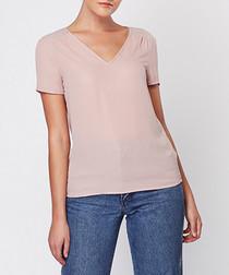 Powder V-neck blouse