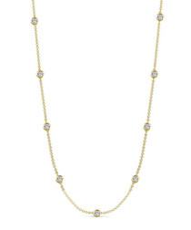 18k gold-plated long necklace