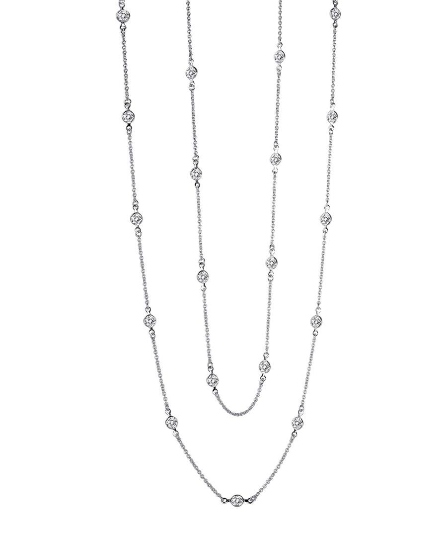 Sterling silver long necklace Sale - liv oliver