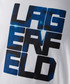 White & blue cotton logo T-shirt Sale - Lagerfeld Sale