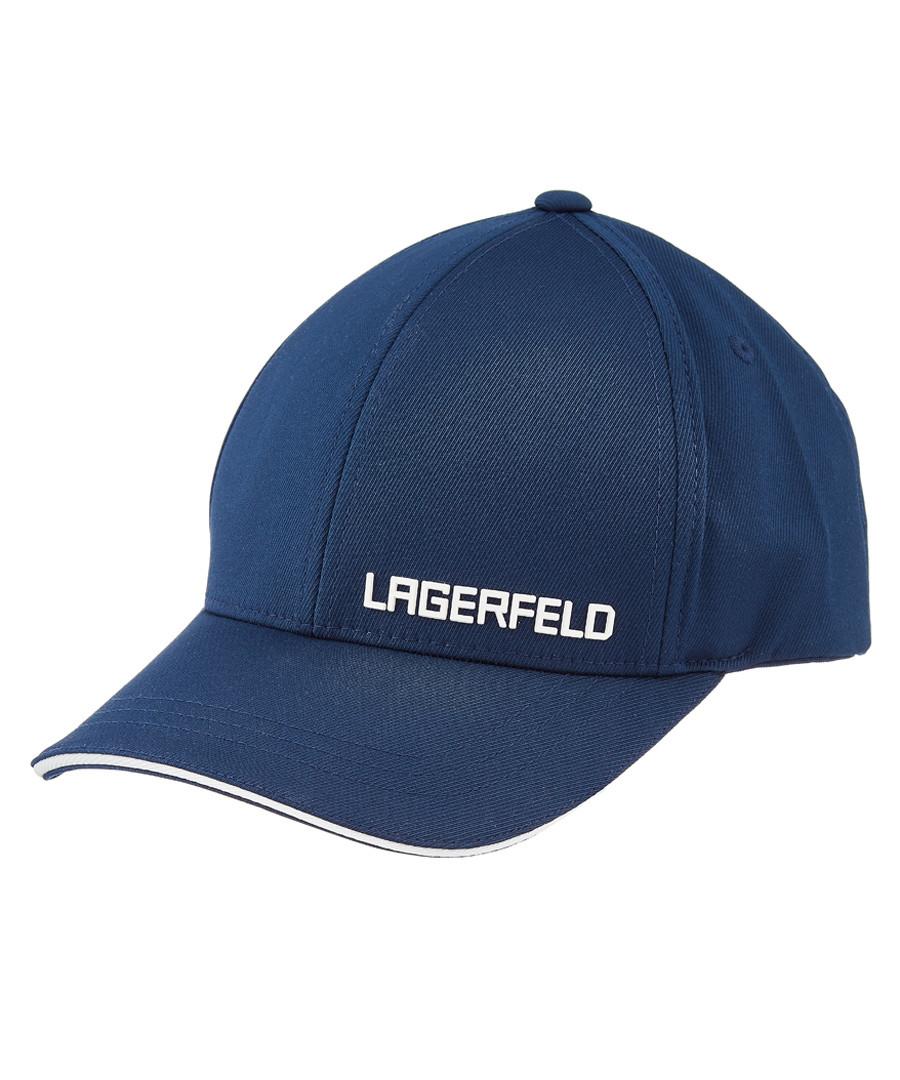 Navy logo cap Sale - Lagerfeld