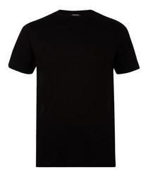 2pc black pure cotton T-shirt set