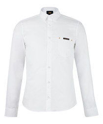 White pure cotton long sleeve shirt