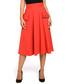 Bright red cotton blend A-line skirt  Sale - bewear Sale
