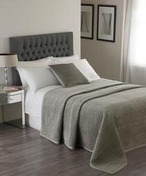 Brooklands silver double bedspread