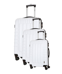 3pc Hunter white suitcase nest