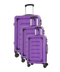 3pc Goldberg violet suitcase nest