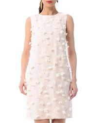 Light pink cotton blend sleeveless dress