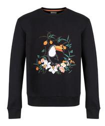 Silva black cotton tropical jumper