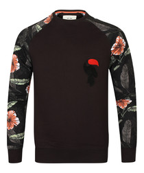Pinto black cotton printed jumper