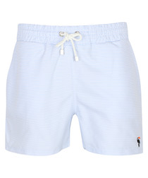 Mauro baby blue drawstring trunks