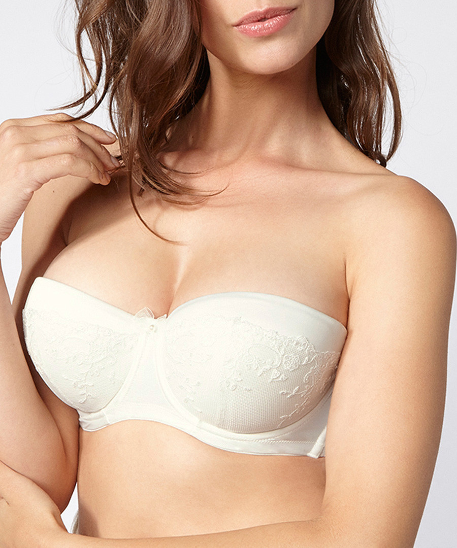 Angelina ivory padded strapless bra Sale - Boux Avenue
