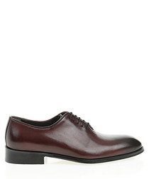 Bordeaux leather Oxford shoes