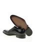 Black leather moc-croc monk strap shoes Sale - Bramosia Sale